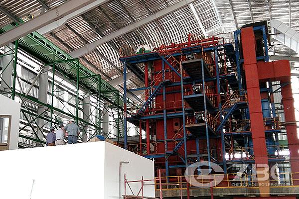 30t/h caldera de biomasa del tubo de esquina de Colombia
