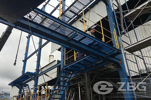 45 ton caldera de biomasa en Costa Rica