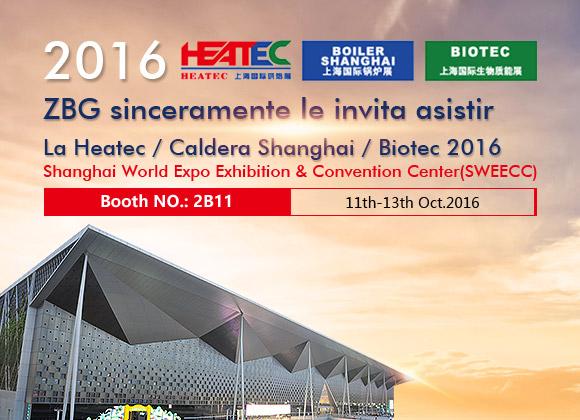 Exposición de HEATEC/BOILER SHANGHAI/BIOTEC 2016